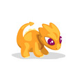cute cartoon orange baby dragon funny fantasy vector image vector image