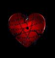 dark chain and broken heart vector image vector image