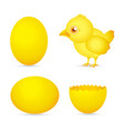 easter day golden chicken baby cartoon character w vector image vector image