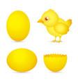 Easter day golden chicken bacartoon character w