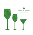 ecology symbols three wine glasses silhouettes vector image vector image