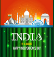 famous monument of india in vector image