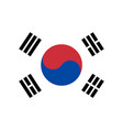 flag in colors of south korea vector image vector image