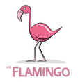 Flamingo Cartoon Pink Bird vector image vector image
