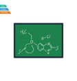 Flat design icon of chemistry formula on classroom vector image vector image