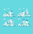 flat design santorini village set vector image vector image