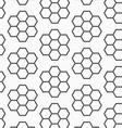 Flat gray with hexagonal flowers vector image vector image
