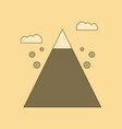 flat icon on background mountain stones fall vector image vector image