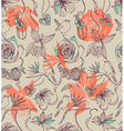 Floral seamless pattern vintage vector image vector image