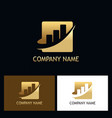 gold business finance progress logo vector image vector image