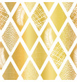 gold foil collage rhombus shapes seamless vector image
