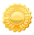 gold medal with laurels icon cartoon style vector image vector image