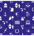 greece country theme symbols and icons seamless vector image vector image