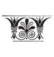 greek band design is a decorative border vector image vector image
