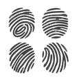 Grunge finger print set vector image