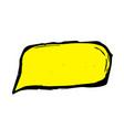 hand-drawn yellow speech bubble vector image vector image
