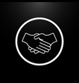 handshake partners logo on a black background vector image