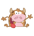 Happy Calf Cartoon Character vector image vector image