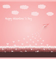 happy valentine s day concept vector image
