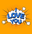 i love you image comic elements and vector image