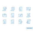 icon set document vector image vector image
