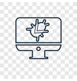 infected concept linear icon isolated on vector image