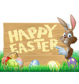isolated happy easter bunny vector image vector image