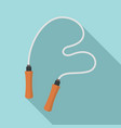 jumping rope icon flat style vector image vector image