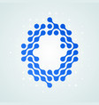 letter o logo halftone icon vector image vector image