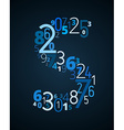 Letter S font from numbers vector image vector image