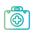 line briefcase with first aid kit vector image vector image