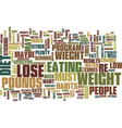 lose wieght diet text background word cloud vector image vector image