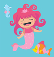 Lovely sea characters vector image vector image
