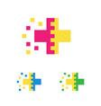 medical logo template pharmacy cross logotype vector image vector image