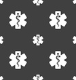 Medicine sign Seamless pattern on a gray vector image vector image