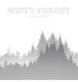 misty forest minimal coniferous landscape nature vector image
