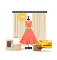 online shopping flat style design vector image