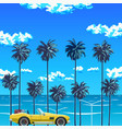 palm trees beach vector image