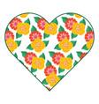 pattern shape heart flower spring ornament image vector image vector image