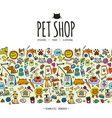 pet shop background seamless pattern for your vector image vector image
