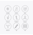Pregnancy pediatrics and family icons Medical vector image vector image