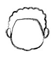 profile boy kid young head character vector image vector image