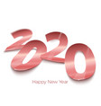 realistic bright foil paper number 2020 eps vector image
