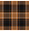 seamless tartan - brown black and white vector image vector image