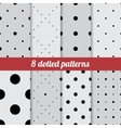 set dotted patterns vector image vector image