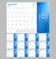 set of calendar pages for 2017 year week starts vector image vector image