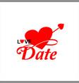 simple fun dating heart logo vector image vector image
