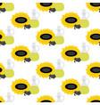 sunflower oil seamless pattern vector image vector image