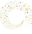 swirl gold and silver snowflakes vector image vector image