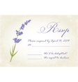 Thank you card with lavender vector image vector image